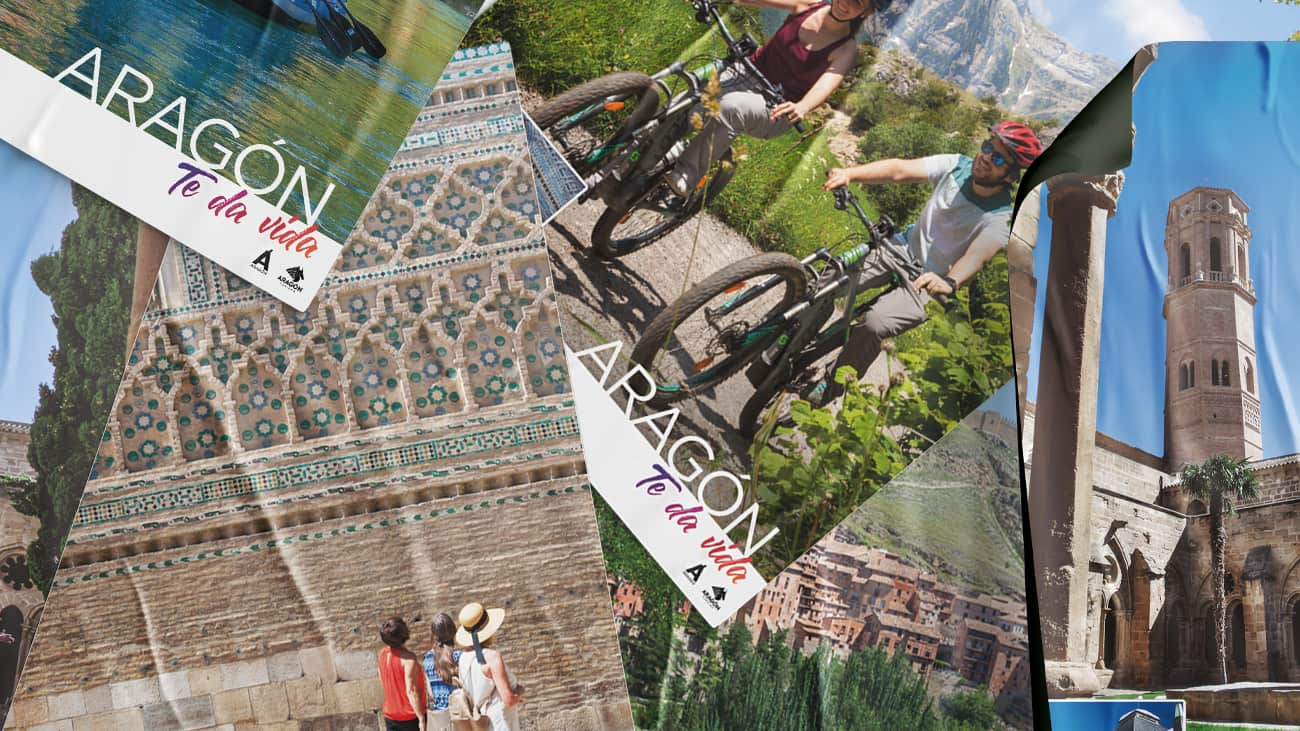 Cartelería para turismo de Aragón - Aragón te da vida.
