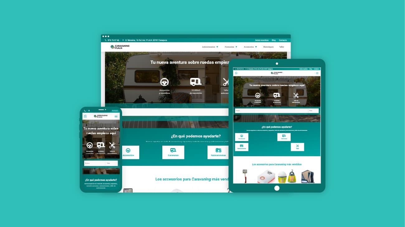 Imagen nueva web Caravaning Plaza.