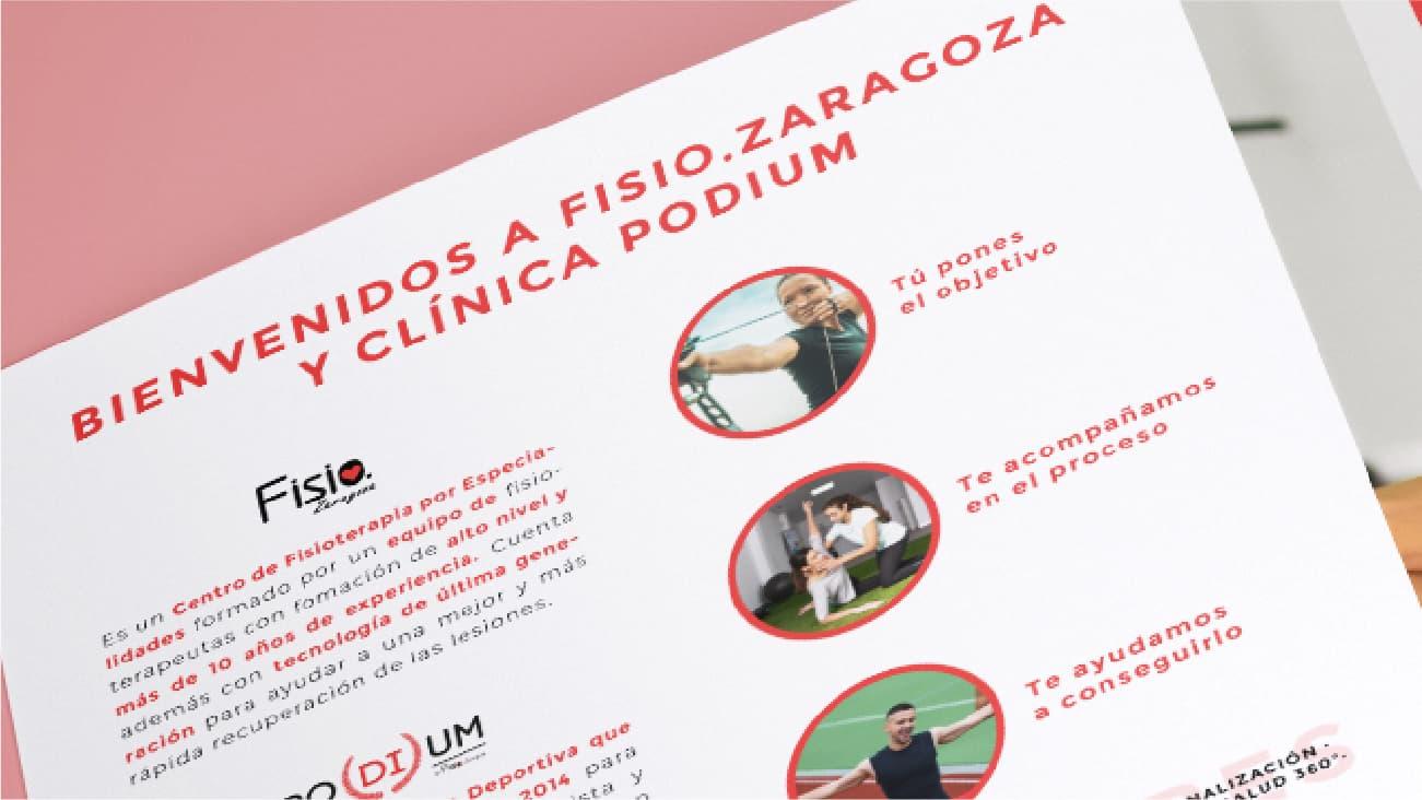 Tríptico para Fisio Zaragoza