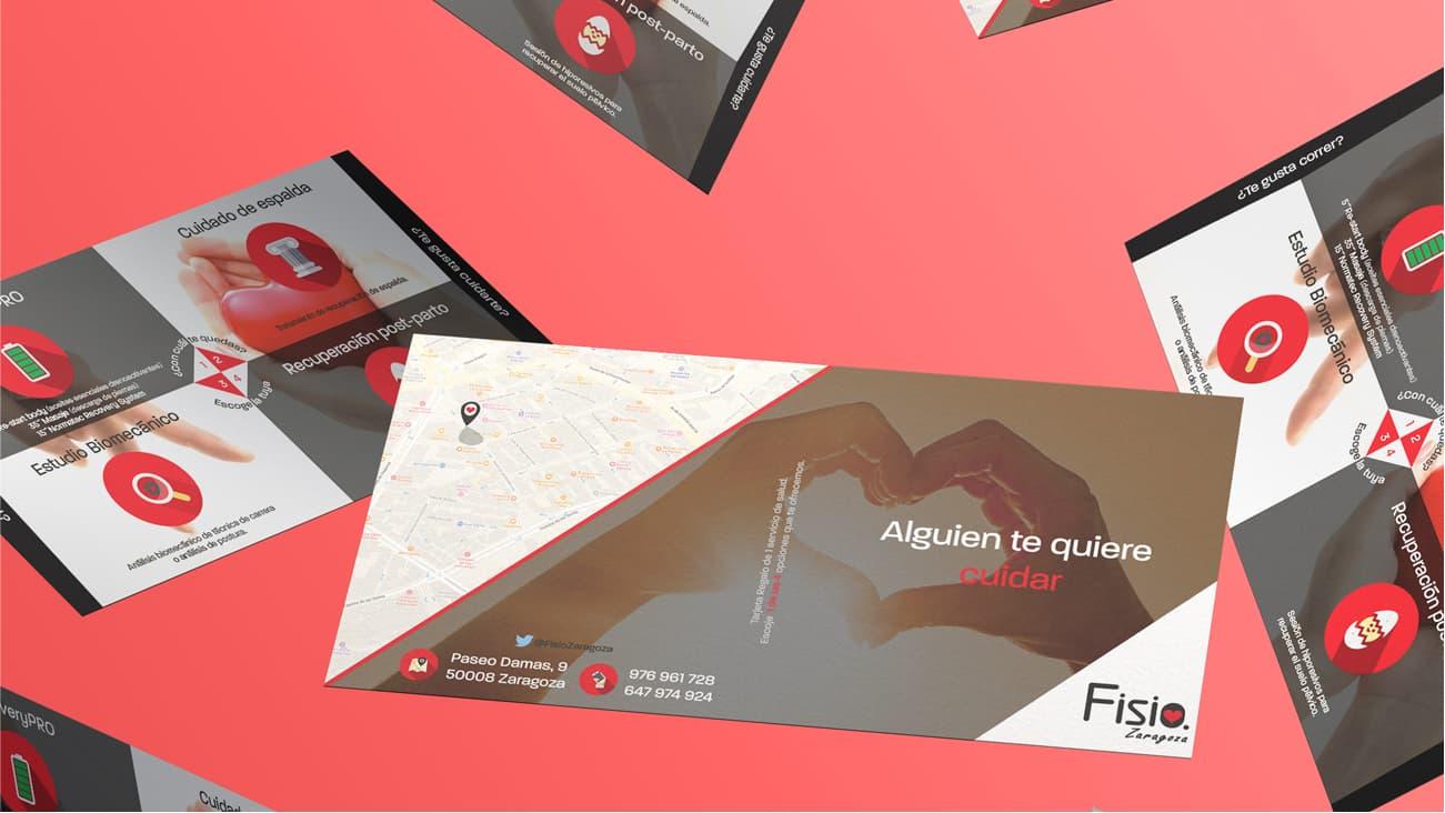 Diseño de tarjeta regalo para Fisio Zaragoza
